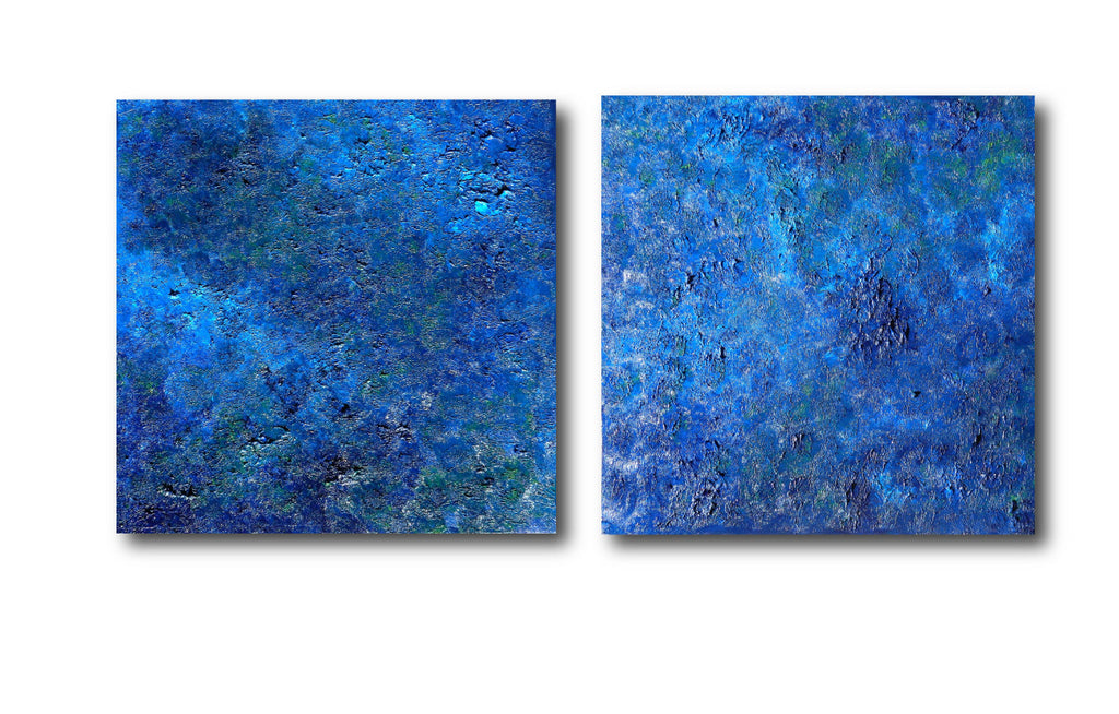 Pooling Oceans Glory #24-26 triptych - original abstract expressionism fine art by Tim Hovde
