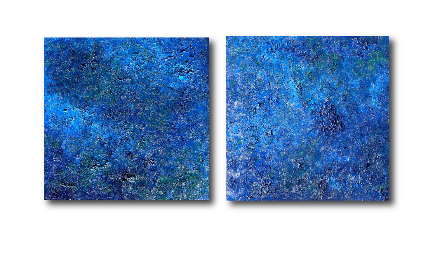 Pooling Oceans Glory diptych Original Blue Artwork + Large Oil Landscape + Seascape Painting + Blue Painting + Blue Art #timhovdefineart
