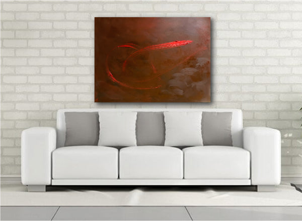 Abstract Painting + Abstract Landscape + Contemporary Painting + Brown Art + Red Abstract Art + Original Art + Oil Painting + Southwest Art + Canvas Wall Art + Modern Art by #TimHovdeFineArt