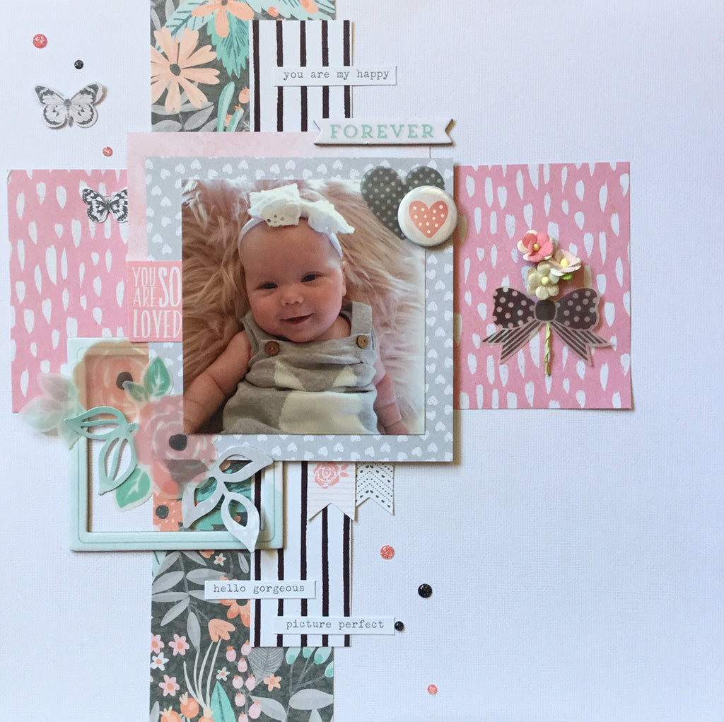 Sue's Gorgeous Layout using Cocoa Vanilla's 'Love Always' Collection