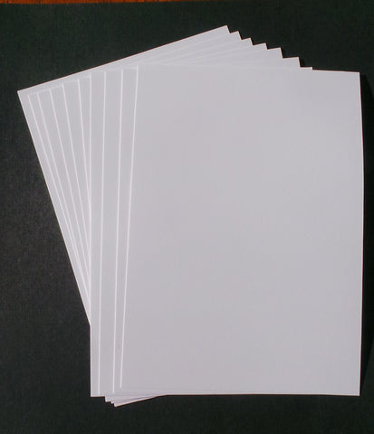 A5 Card Stock - White (100 pieces)