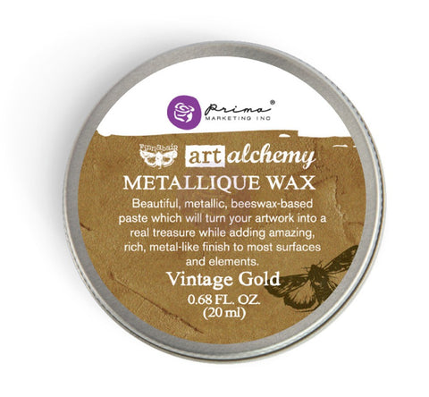 Prima Art Alchemy Metallique Wax - Vintage Gold