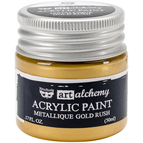 Prima Art Alchemy Acrylic Paint, Metallique Gold Rush