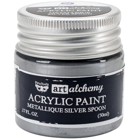 Prima Art Alchemy Acrylic Paint, Metallique Silver Spoon