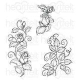 Heartfelt Creations - Classic Rose Vines Stamps
