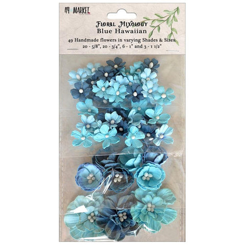 49 and Market - Floral Mixology Flowers, Blue Hawaiian