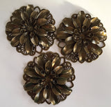 Antique Bronze Flower 3