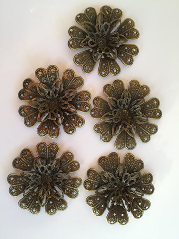 Antique Bronze Flower 5