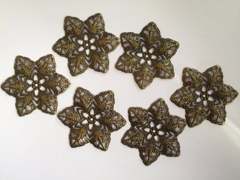 Antique Bronze Flowers small