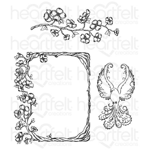 Heartfelt Creations - Flowering Dogwood Branches Stamps