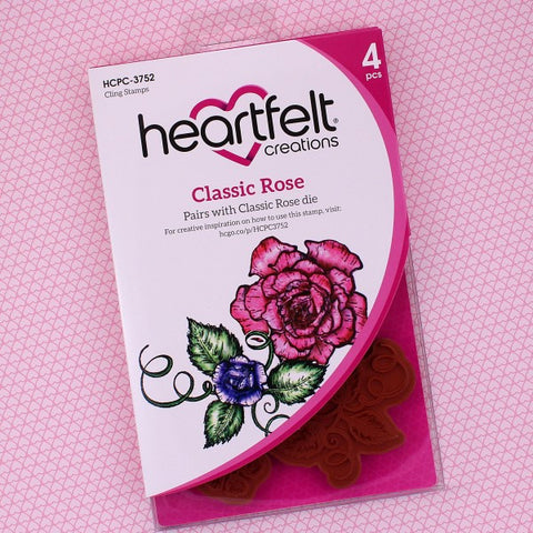 Heartfelt Creations - Classic Rose Stamp