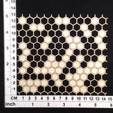 Scrapmatts Chipboard - Hexagon Mesh 03