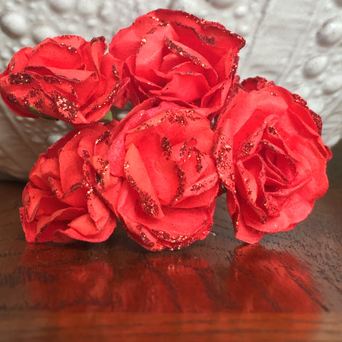 Phoenix Crafts - Red Paper Roses 3cm