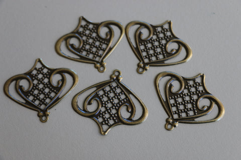 Antique Bronze Filigree 2