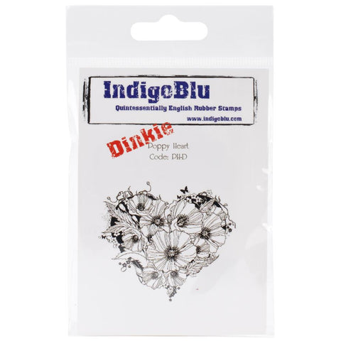 Indigoblu - Poppy Heart Stamp