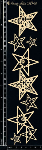Dusty Attic - Industrial Stars chipboard