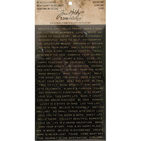 Tim Holtz Idea-ology - Metallic Stickers