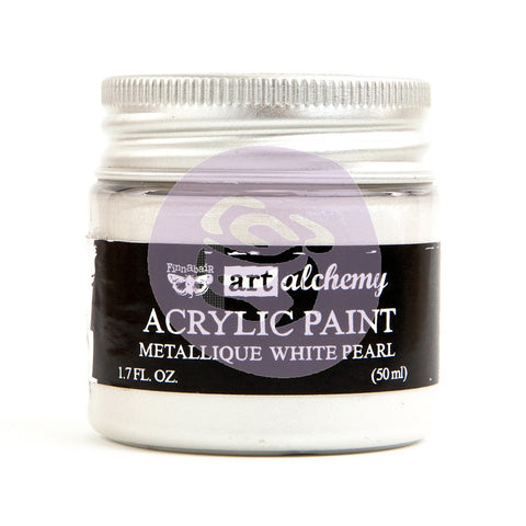 Prima Art Alchemy Acrylic Paint, Metallique White Pearl