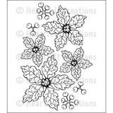 Heartfelt Creations - Sparkling Poinsettia Stamp