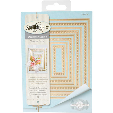 Spellbinders - Venise Lace, Hemstitch Rectangles