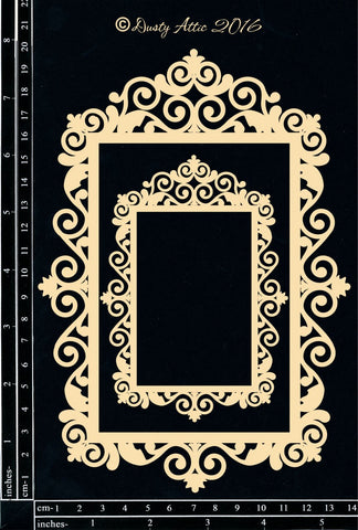 Dusty Attic - Vintage Frame #4 chipboard