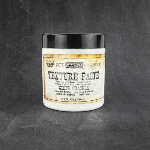 Prima - White Crackle Texture Paste