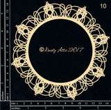 Dusty Attic - Doily #10 chipboard