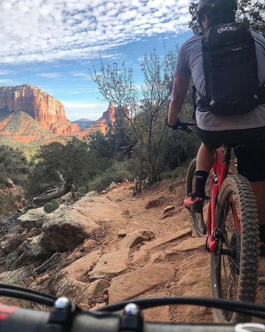 Mountain biking Hiline trail in Sedona, Arizona