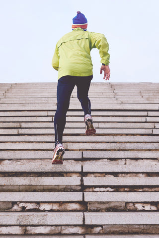 Running bleacher stairs to improve VO2