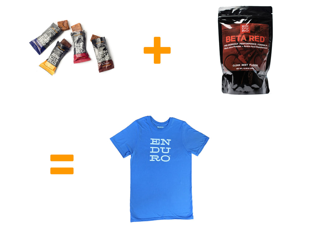 Enduro Bites and BETA RED Bundle (plus free shirt!) - Enduro Bites Sports Nutrition