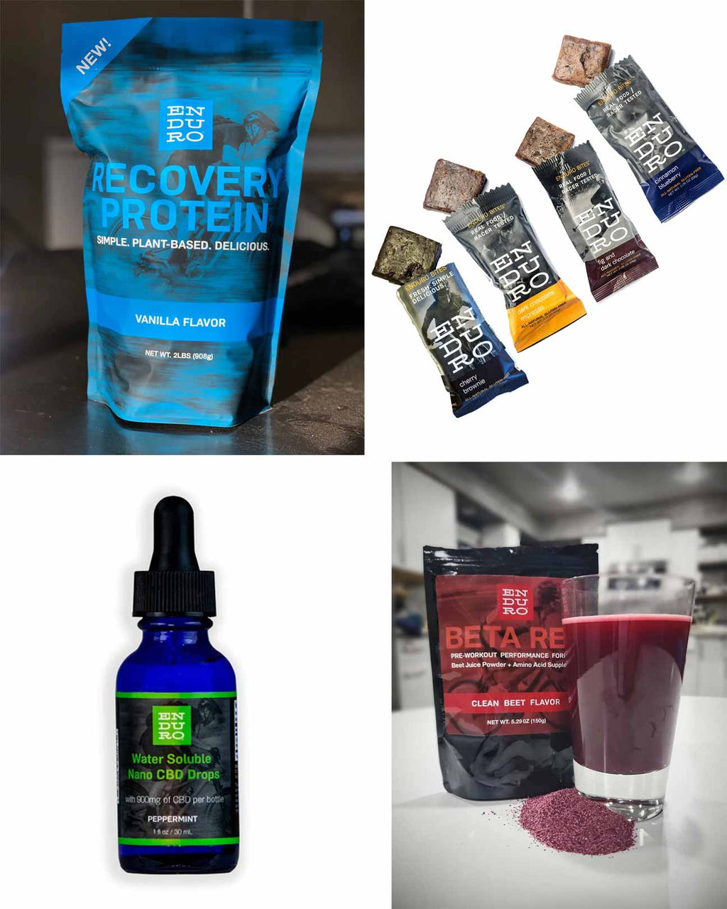 Before, During, After Workout Bundle + Nano CBD Drops - Enduro Bites Sports Nutrition