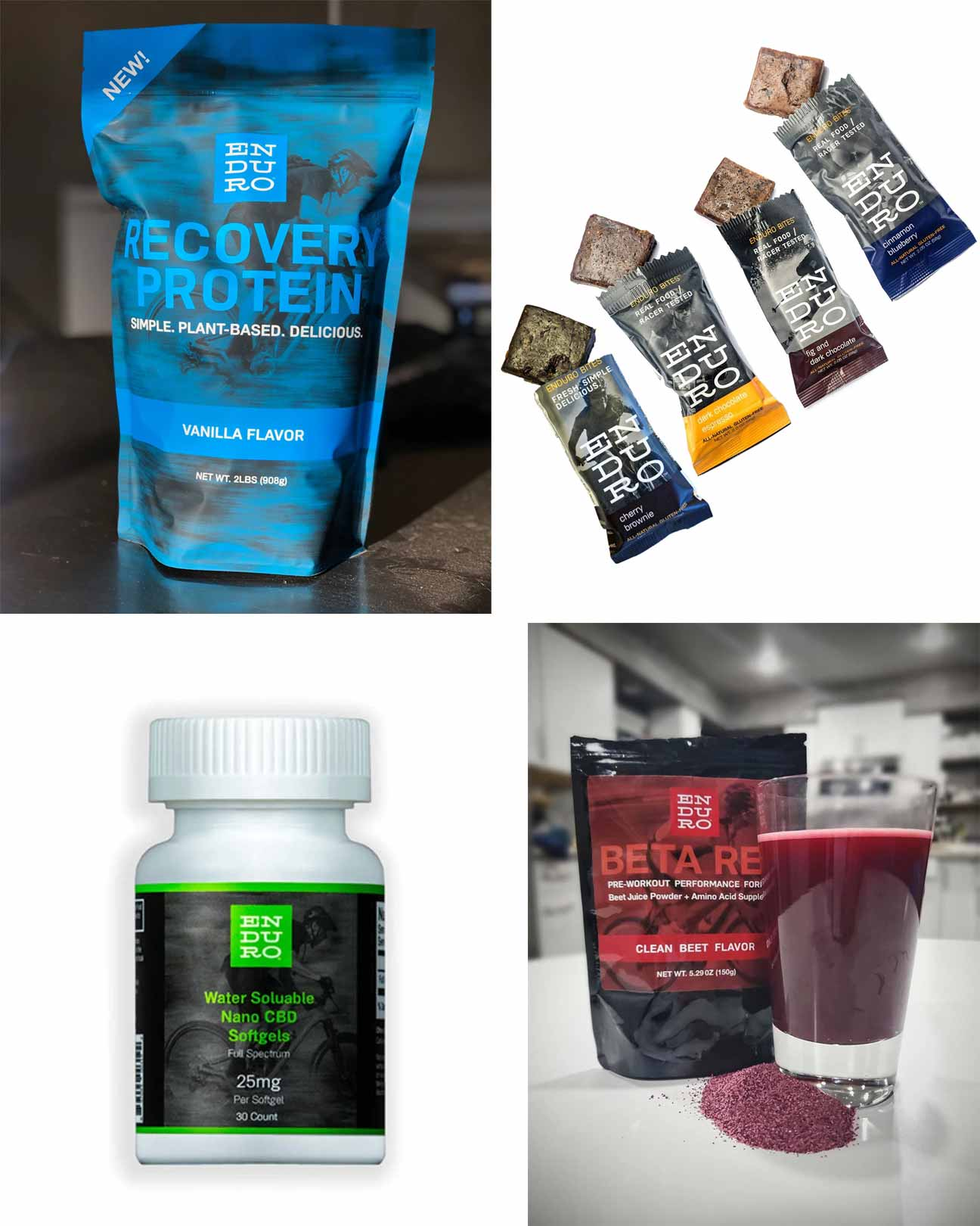 Before, During, After Workout Bundle + Nano CBD Softgels - Enduro Bites Sports Nutrition