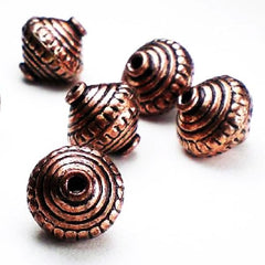 Genuine Copper Beads, Findings and Chain