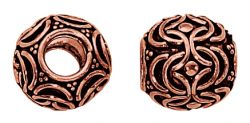 10mm Genuine Copper Beads Big Hole Beads Solid Copper Barrel Large Hole Bead 4 pcs. GC-232
