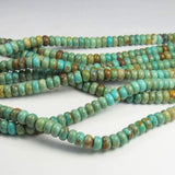 6mm Natural Turquoise Beads Rondelle Beads 8 or16 Inch Strand