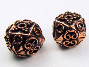 14mm Genuine Copper Beads 2 pcs. GC-388
