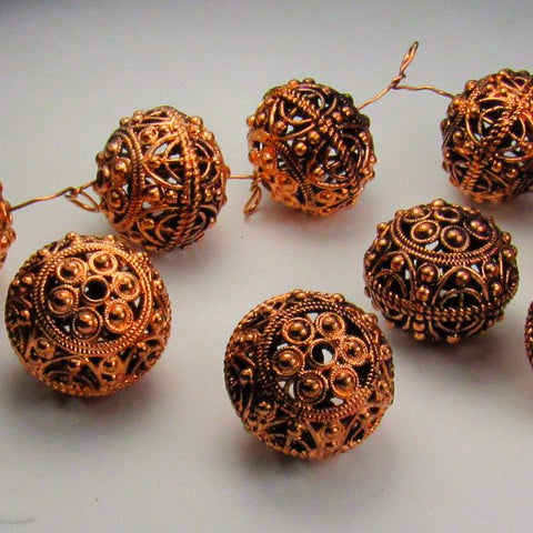 Genuine Copper Focal Beads 18mm 2 pcs. GC-390