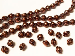 10mm Embossed Genuine Copper Bead 15 pcs. GC-395