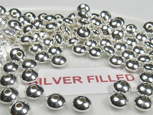 6mm Silver Filled Saucer Beads SF-305