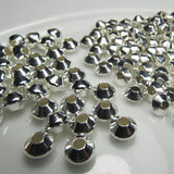 Silver Filled Rombo Bicone Beads 4, 5 or 6mm Choose Your Size SF-303