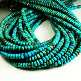 5.5mm Natural Turquoise Beads Rondelle Beads Blue and Blue Green Turquoise