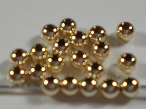 14K Gold Filled Round Seamless 3mm Beads 50 pcs. GF-103 - Royal Metals Jewelry Supply