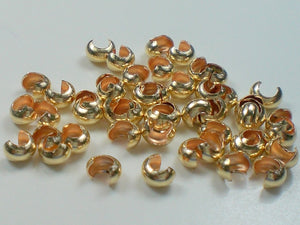 3mm Gold Filled Crimp Covers 20 pcs. GF-113 - Royal Metals Jewelry Supply