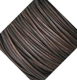5 Meters Dark Antiqued Brown Leather Cord 2mm Round - Royal Metals Jewelry Supply