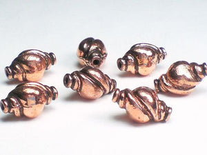 13mm Sea Shell Beads Genuine Copper Bead  7pcs. GC-228 - Royal Metals Jewelry Supply