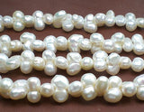 Double Baroque White Pearls 11-12mm 1 Strand