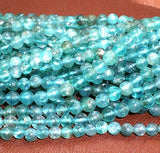 4mm Blue Apatite Beads Spacer Beads Full Strand - Royal Metals Jewelry Supply