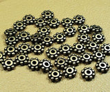 40 TierraCast 6mm Daisy Spacer Beads Brass Oxide or Blackened Pewter Finish TierraCast 93-0407 - Royal Metals Jewelry Supply