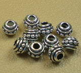 TierraCast 7mm Fine Silver Finish Beaded Spacer Bead Large Hole Beads 10 pcs. TierraCast  94-5547