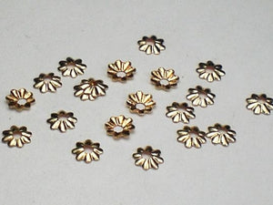 14k Gold Filled Bead Caps Tiny 3.8mm Scalloped Bead Caps 20 pcs. GF-122 - Royal Metals Jewelry Supply